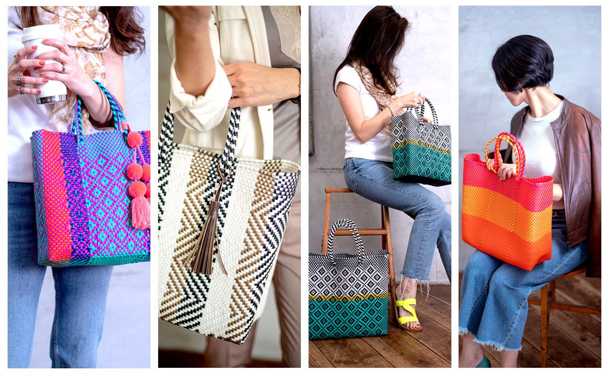 サイズやデザインが様々なViva la Vidaのメルカドバッグ。きっとお気に入りに出会えるはずです。